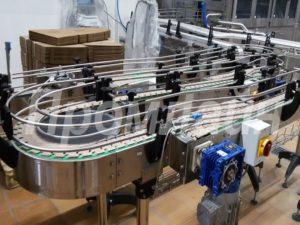 Поворотный конвейер для пэт бутылок