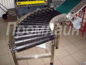 поворотный роликовый конвейер